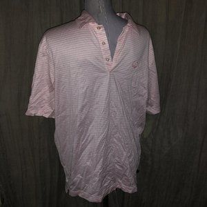Vineyard Vines AS NEW pink striped polo shirt L
